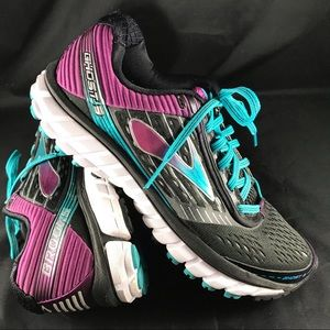Xlnt Brooks Ghost 9 womens 9 running shoes black